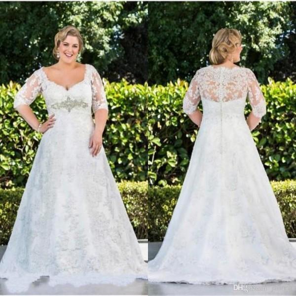 свадебное платье для полных