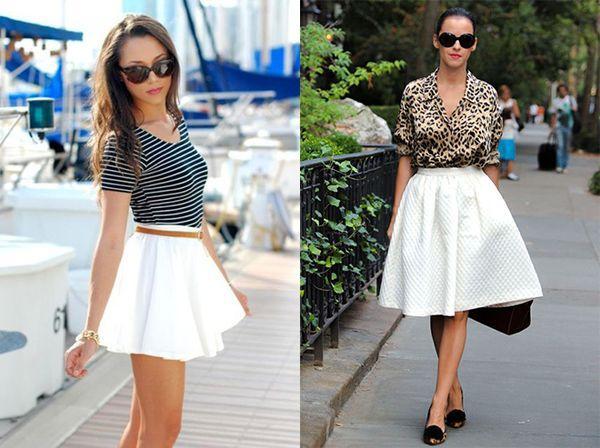 белые летние юбки