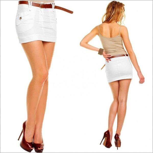 Мини юбка белая