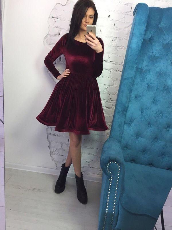 пышное платье из бархата