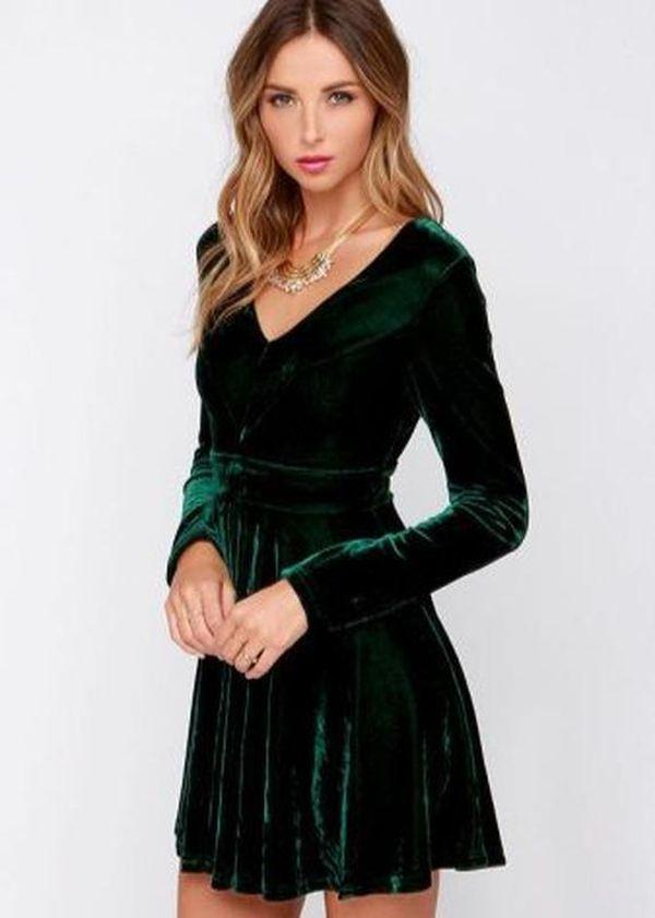 платье Н-силуэт