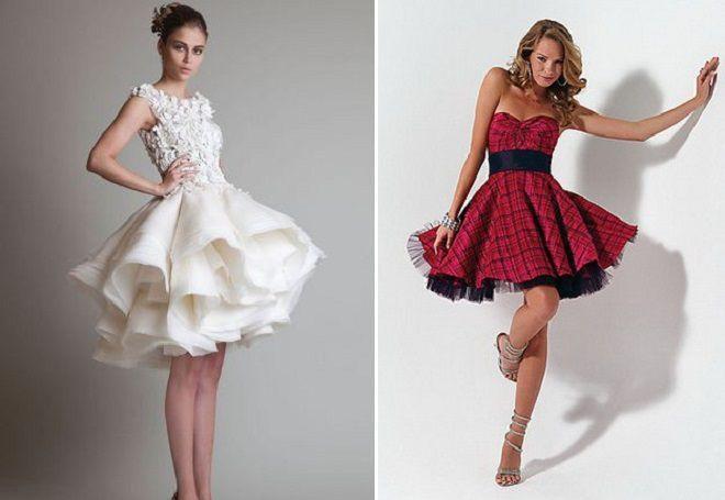 пышные платья мини