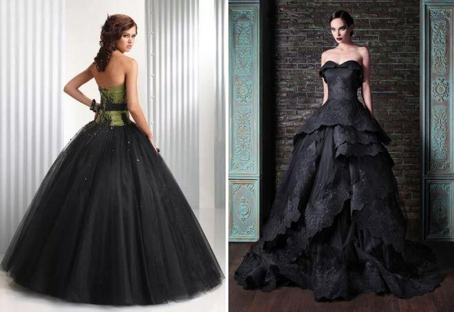 пышные платья черное