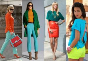Модные оттенки и сочетания цветов в женской одежде, тренды 2021 года