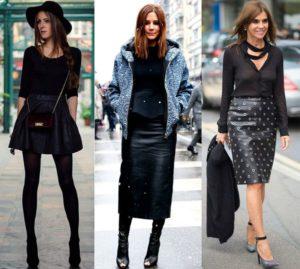 С чем носить кожаную юбку карандаш и обзор стильных образов