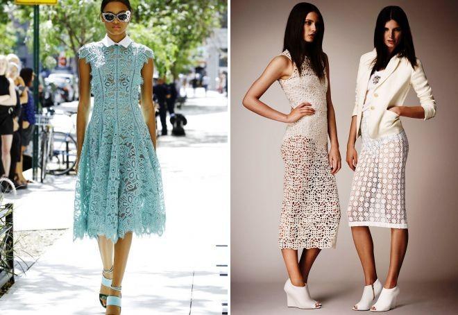 модные платье кружевные
