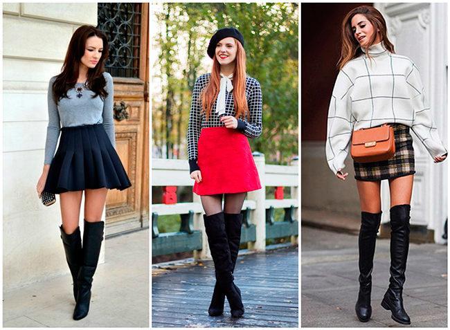 Обзор стильных образов, с чем можно носить ботфорты и как правильно сочетать с одеждой