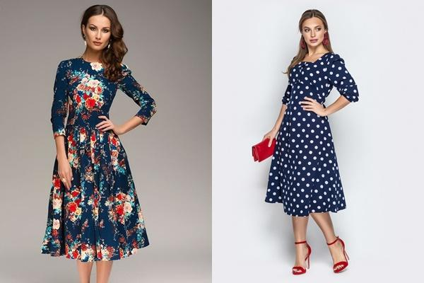 трендовые синие платья 2019