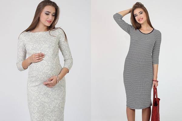 платье трикотаж для беременной