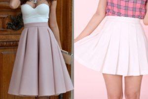 Советы стилистов, с чем носить юбки в складку и обзор модных моделей