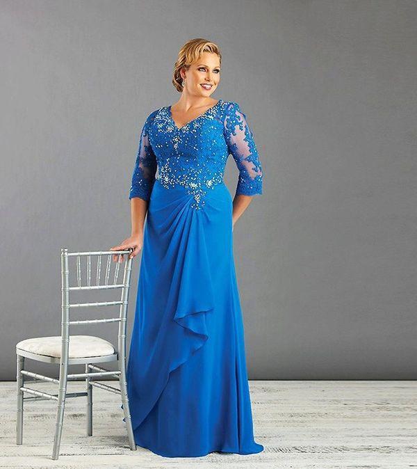Вечернее платье синие