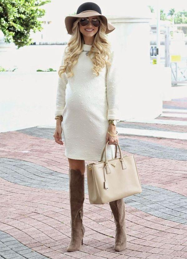Платья для беременных осень-зима