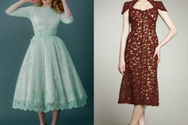 модные кружевные платье