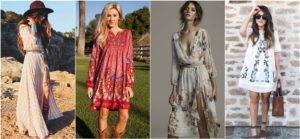 Модные модели платьев в стиле бохо и как выбрать стильный лук