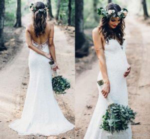 Красивые модели свадебных платьев для беременных и как правильно выбрать