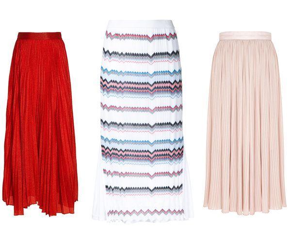 Трикотажные юбки-плиссе