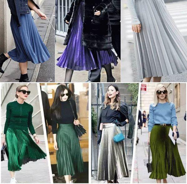 Шелковые плиссированные юбки
