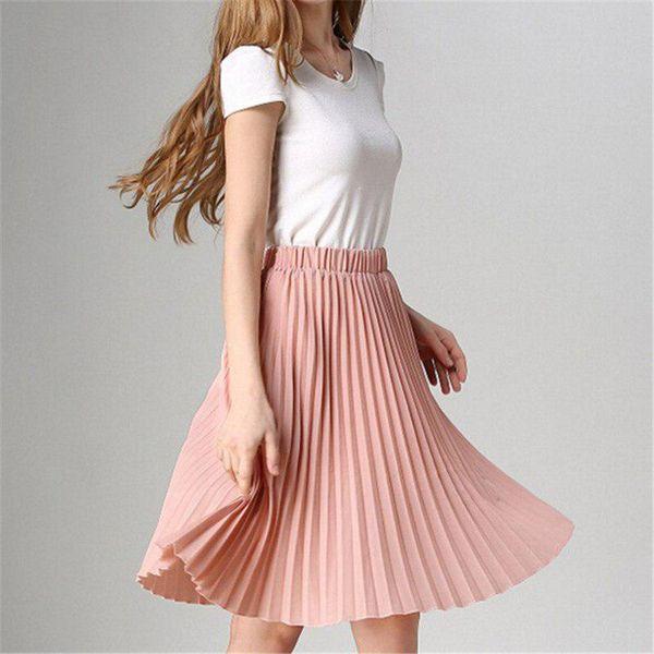 Короткие юбки плиссе