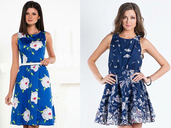 платья в цветочки