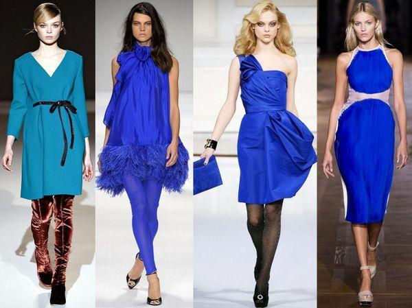 летние платья синие