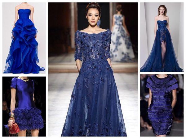 темно синие вечерние платья