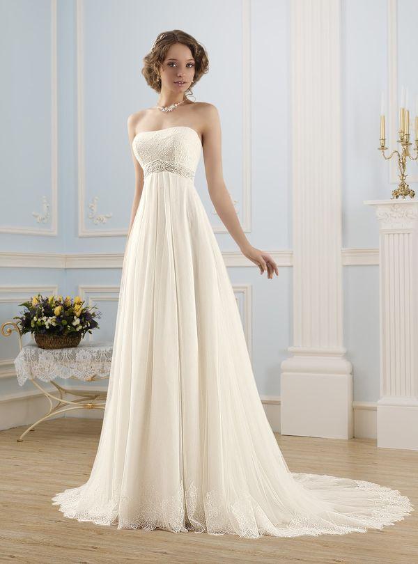 Свадебное платье ампирного силуэта