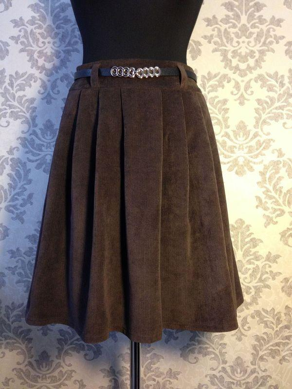 зимняя юбка из вельвета