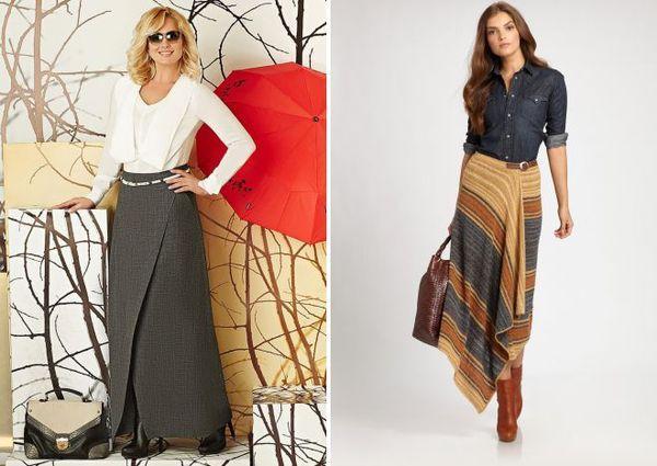 Модные модели длинных теплых юбок, с чем носить и как сочетать