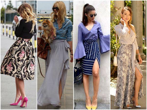 юбки цветные