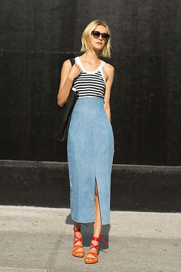 юбка длинная джинсовая