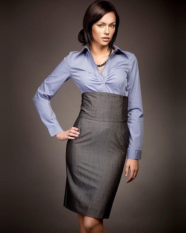 Классическая юбка с высокой посадкой
