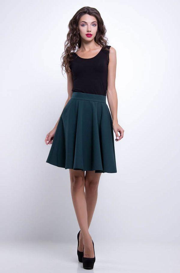 короткая юбка со складками