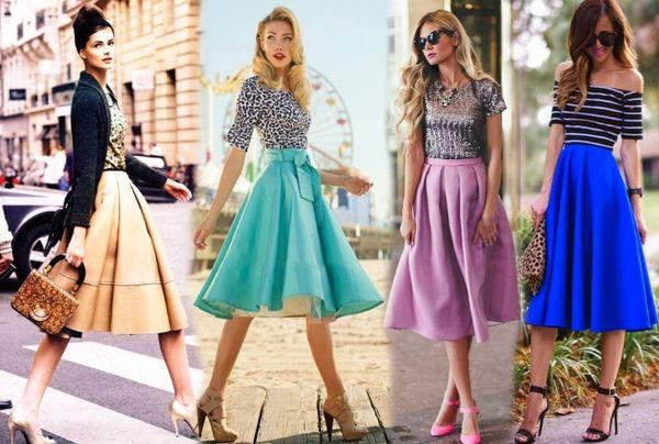 С чем носить юбку солнце, модные образы и советы стилистов