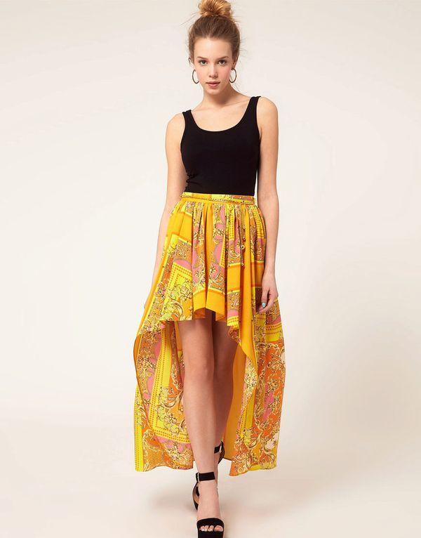 юбка с хвостом