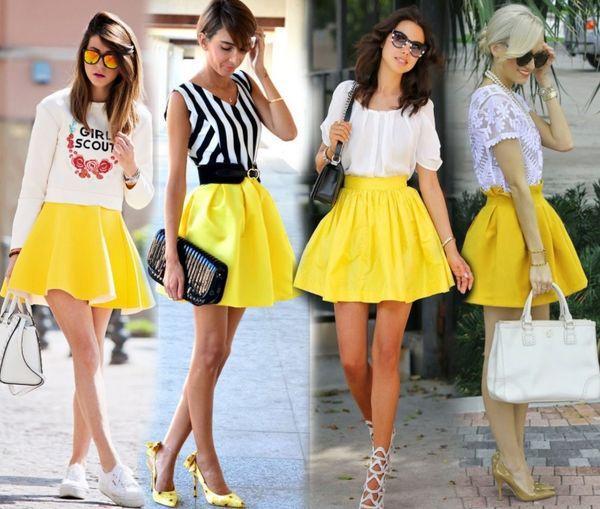 Пышные желтые юбки