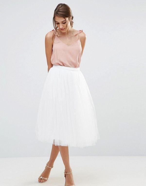 белая юбка из фатина