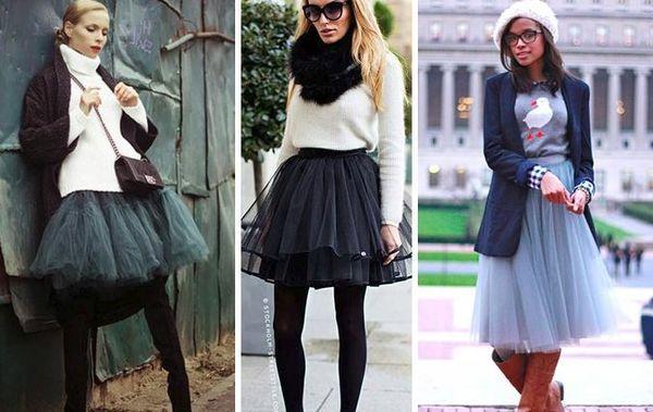 юбки из фатина зимой