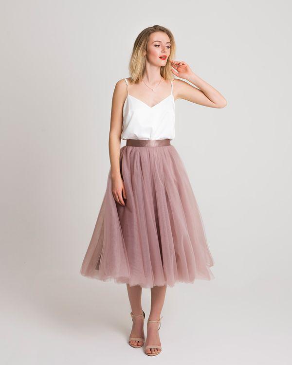 розовая юбка из фатина