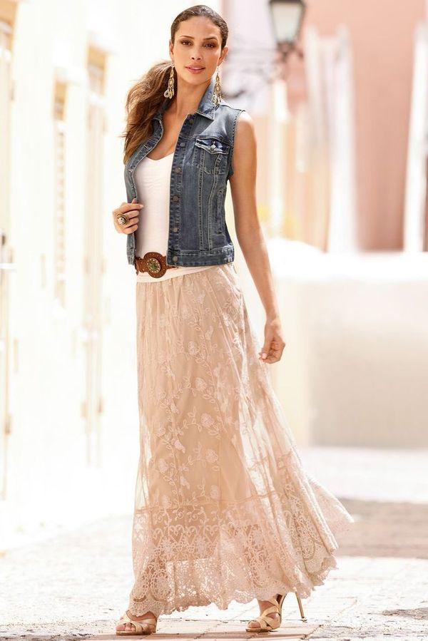 юбка с жилетом
