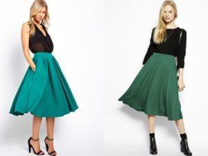 Красивые модели зеленых юбок, с чем сочетать и как правильно носить