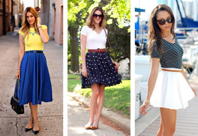 Стильные фасоны юбки-клеш, с чем носить и как выбрать образ