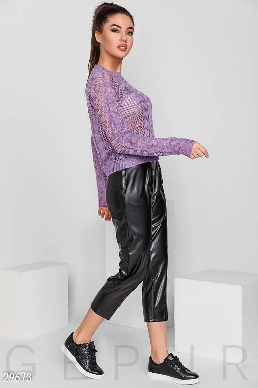 укороченные брюки Кожаные