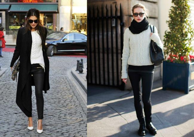 белый свитер луки