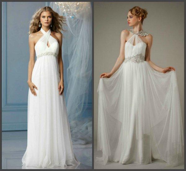Особенности свадебных платьев в греческом стиле, модные образы и фасоны