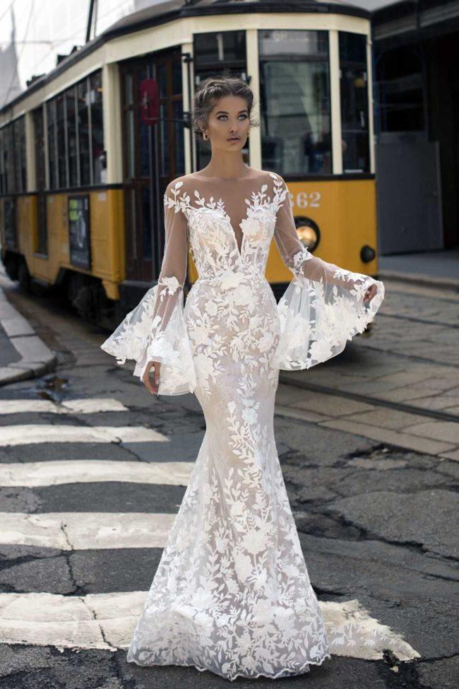 кружевное платье свадебное 2019