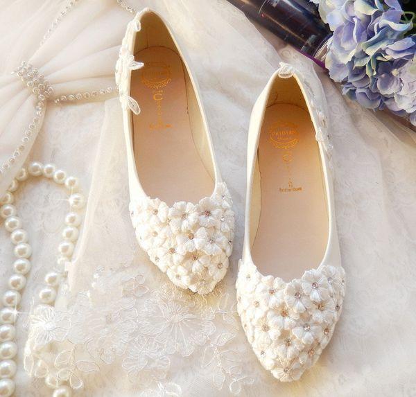 Красивые балетки свадебные