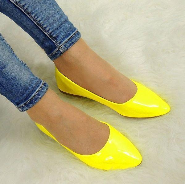 желтые балетки