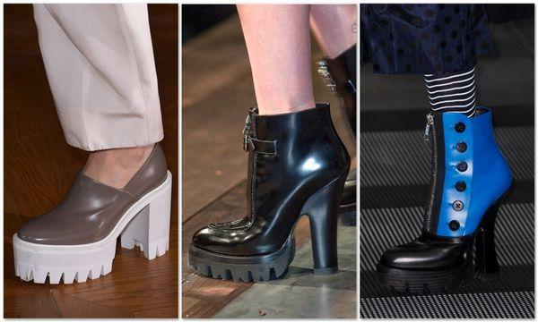 Ботинки, выполненные в грубой форме