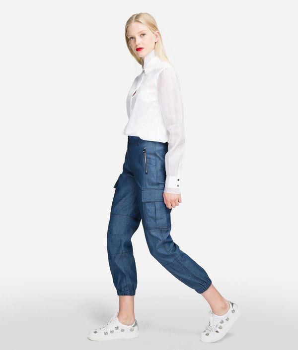 брюки карго женские джинсовые