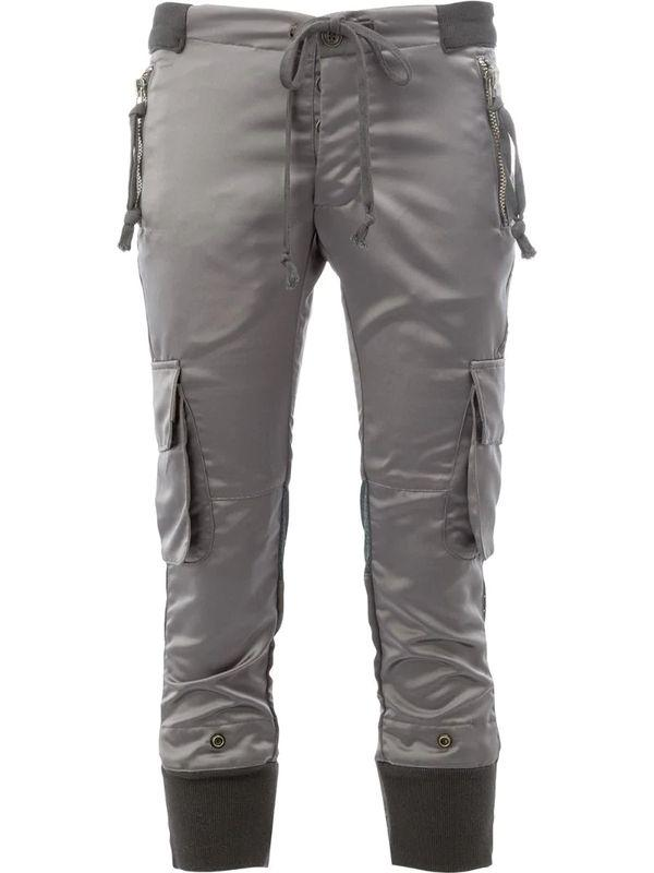 Серые штаны-карго